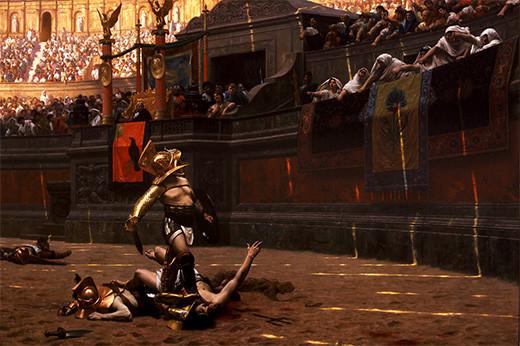 gladiador-coliseo-romano-me-gusta-pulgar-arriba