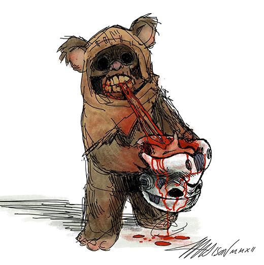 ilustracion-ewok-zombi-Austin-Madison