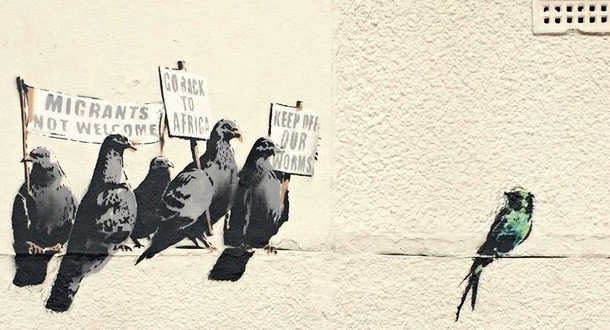 banksy-grafiti-pajaro-protesta-contra-inmigrantes