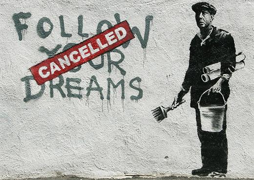 banksy-grafiti-sigue-tus-suenos-cancelado