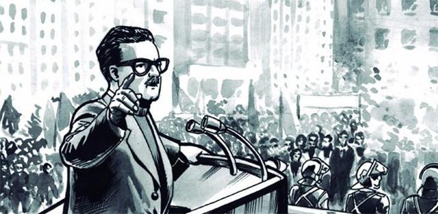 viñeta cómic Los años de Allende