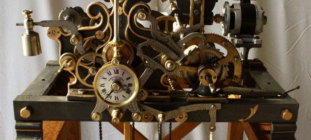 Reloj la verdadera m quina del tiempo portal o o - Relojes grandes de pared vintage ...